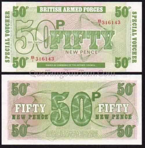 1972 BRITISH ARMED FORCES 6th SERIES 50 P - 30K